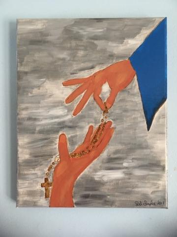 mary handing down rosary blog